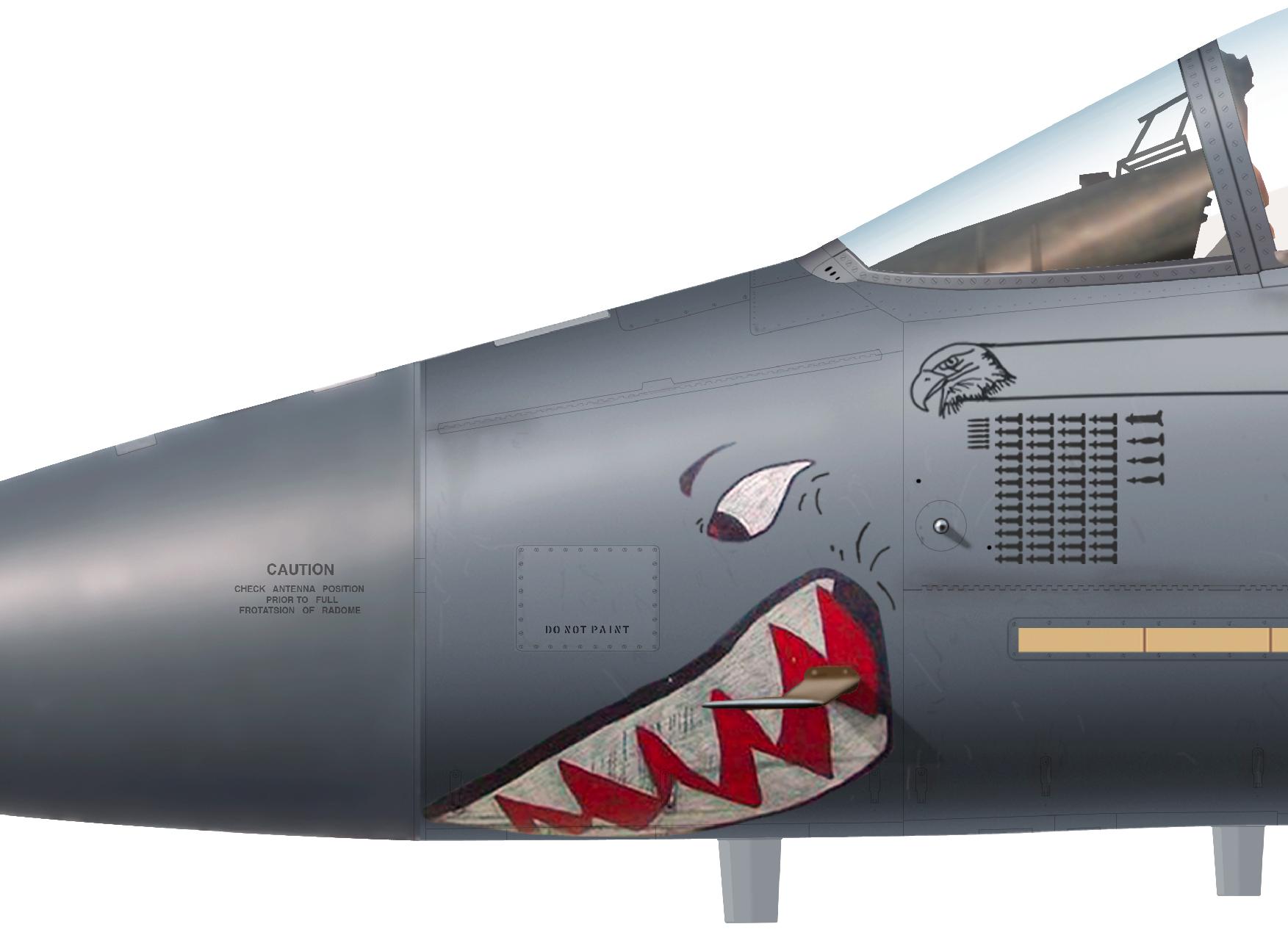 15. F-15E Strike Eagle 'Sharkmouth' s/n 87-0173 MO 391st FS, 366th Wg