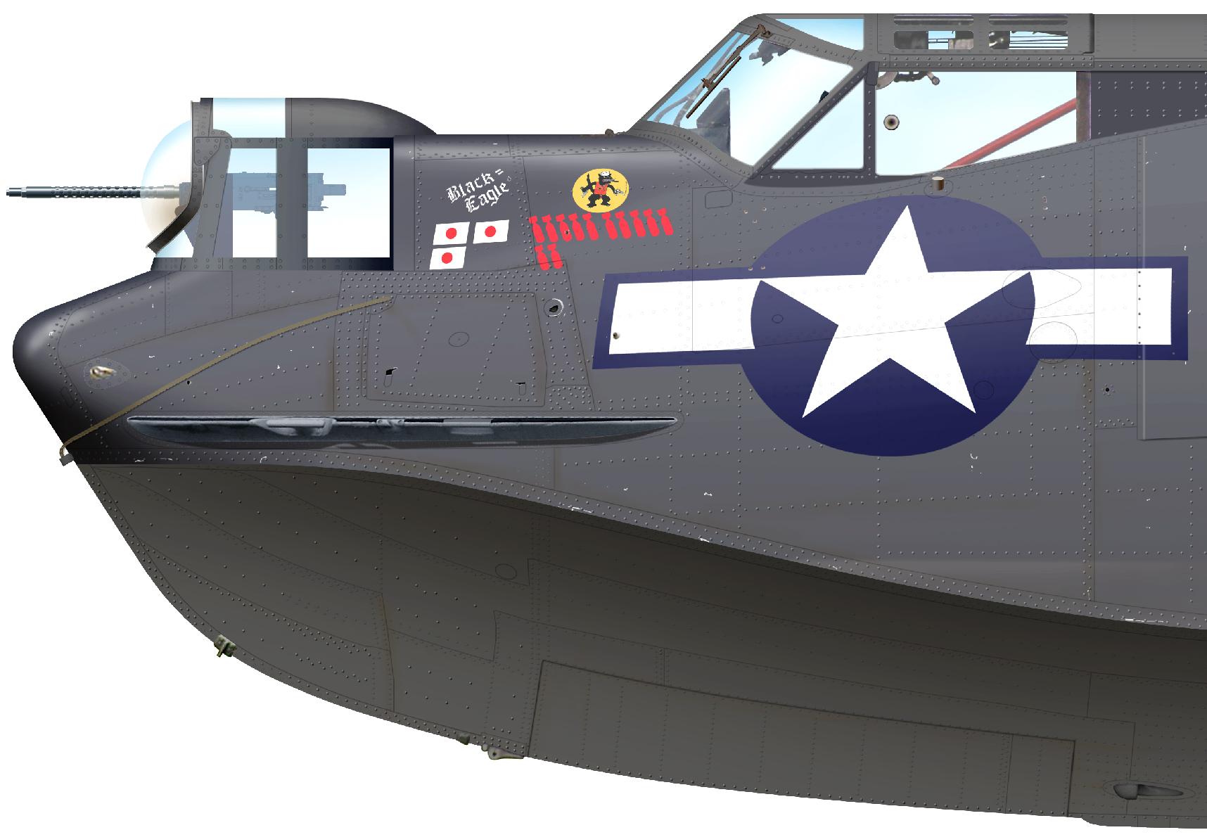 f4182d5b8ef PBY-5A Catalina 'Black Cat' Bu.No 46517 E-68 'Black Eagle' flown by  Capt.L.E.Rearden, Sr. of VPB-71, Manus Island, 1944